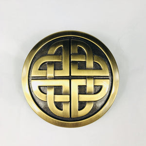 Lee River Celtic Knot Bronze Belt Buckle