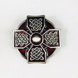 Lee River Celtic Cross Red Belt Buckle