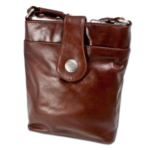 Lee River Brown Leather Torc Bag