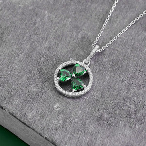 Solvar Shamrock Circle Necklace