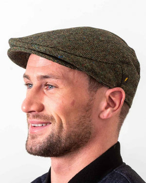 Donegal Tweed Green Flat Cap