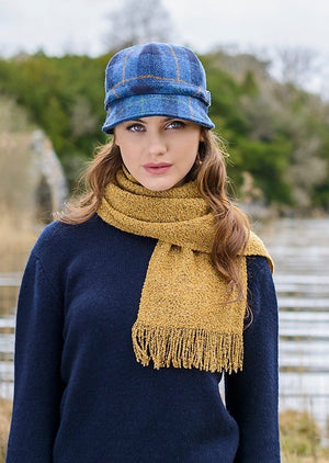 Blue Check Flapper Hat Mucros