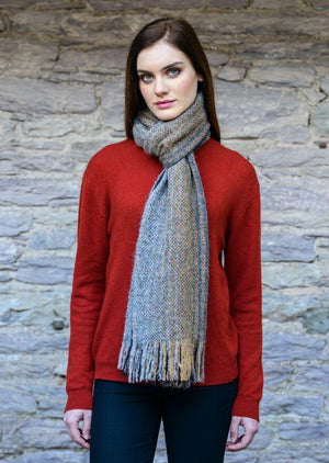 Mucros Brown Mix Islander Scarf