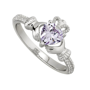 Solvar June Claddagh Birthstone Ring s2106206