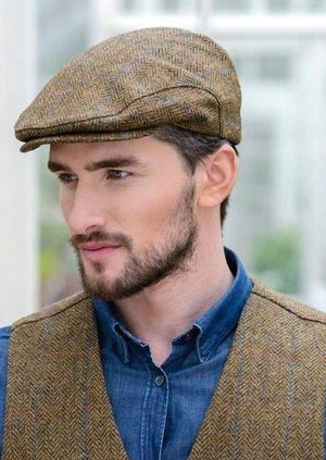 Brown Tweed Trinity Cap 92