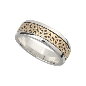 Gents Silver & Gold Trinity Knot Ring
