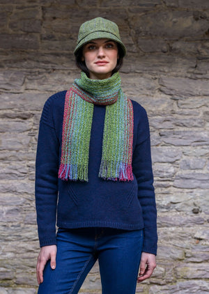 Mucros Weavers Green Mix Skellig Scarf