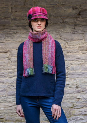 Mucros Weavers Pink Mix Skellig Scarf
