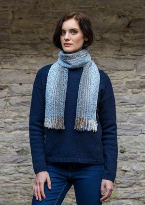 Mucros Blue Mix Skellig Scarf