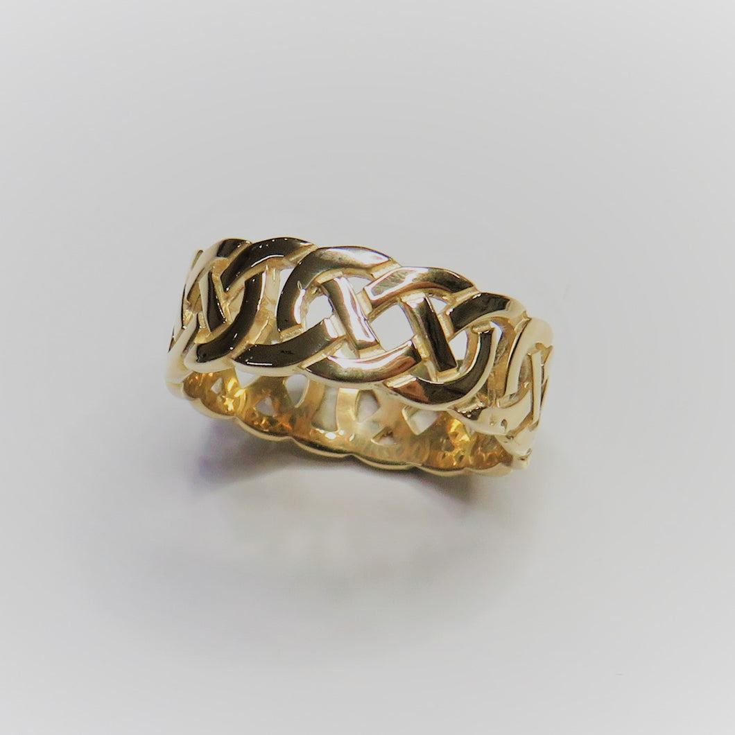 9ct Yellow Gold 8mm Celtic Band