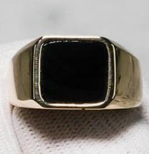Load image into Gallery viewer, 9ct Yellow Gold Onyx Signet Ring