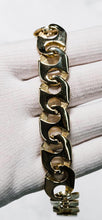 Load image into Gallery viewer, 9ct Yellow Gold New Gents Marine Style Bracelet with Polished Finish