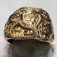 Load image into Gallery viewer, 9ct Yellow Gold Saddle Ring