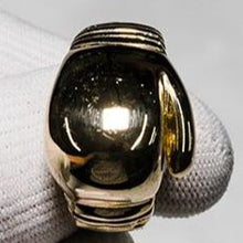 Load image into Gallery viewer, 9ct Yellow Gold Boxing Glove Style with Barked Finish to Shoulders