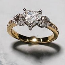 Load image into Gallery viewer, 18ct Yellow Gold Heart Shaped Centre Stone with Brilliant Cut Diamonds on the Shoulders