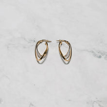 Load image into Gallery viewer, 9ct Gold Earrings with Frosted Finish