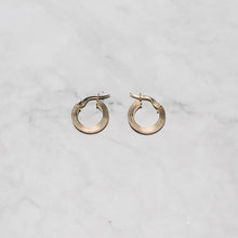 Load image into Gallery viewer, 9ct Gold Earrings with Triple Line Finish