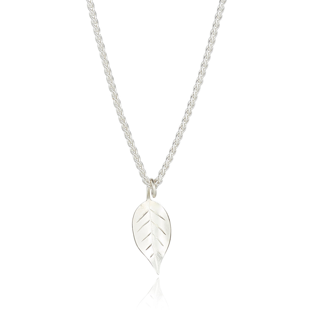 Fallen leaves pendant -sterling silver