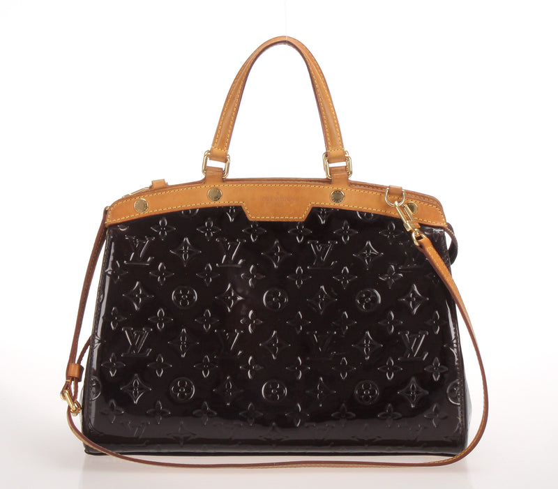<transcy>Louis Vuitton Verni Blair MM 2WAY Handbag Amarant M91619</transcy>