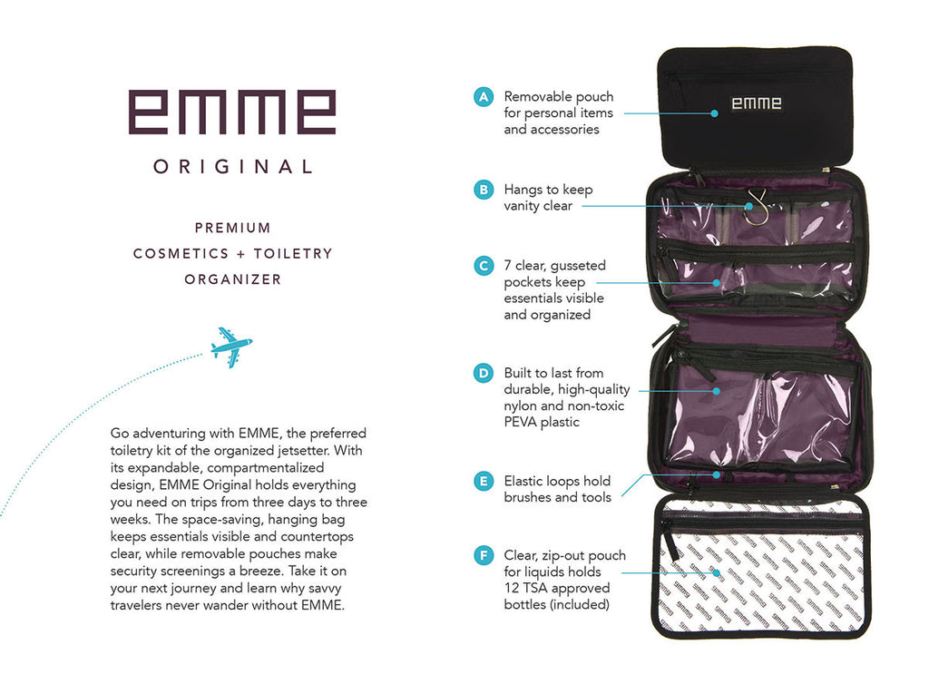 EMME Original - Cosmetic and Toiletry Bag