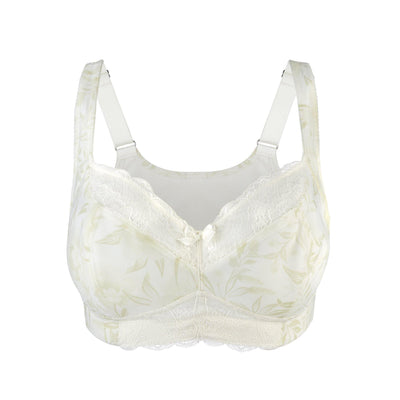 Back Support Cotton & Silk Sports Bra (Floral Spritz & Lily white) - Juliemay Lingerie