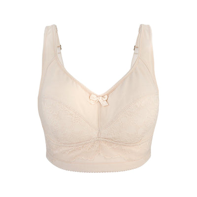 Back Support Cotton & Silk Bra (Almond Peach & Pagent Blue) - Juliemay Lingerie
