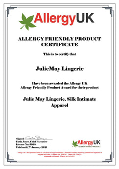 Allergy free certificate