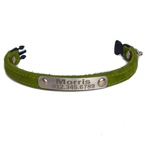 Personalized Custom Cat Collar Loden Sample