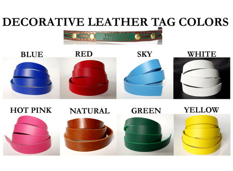 Metallic Personalized Leather Cat Collar