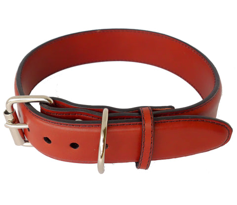 Ruggit Collars One and Half Inch Leather Dog Collar Personalized Adjustable