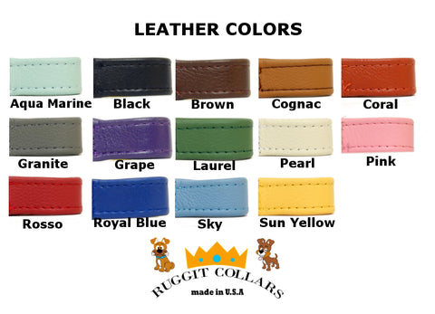 Martingale Leather Dog Collars