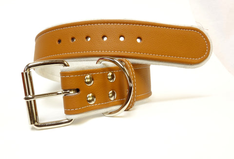 Leather Dog Collar for dogs personalized 1-1/2 inch