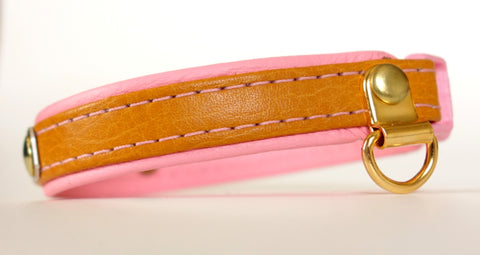 Leather two tone Cat Collar