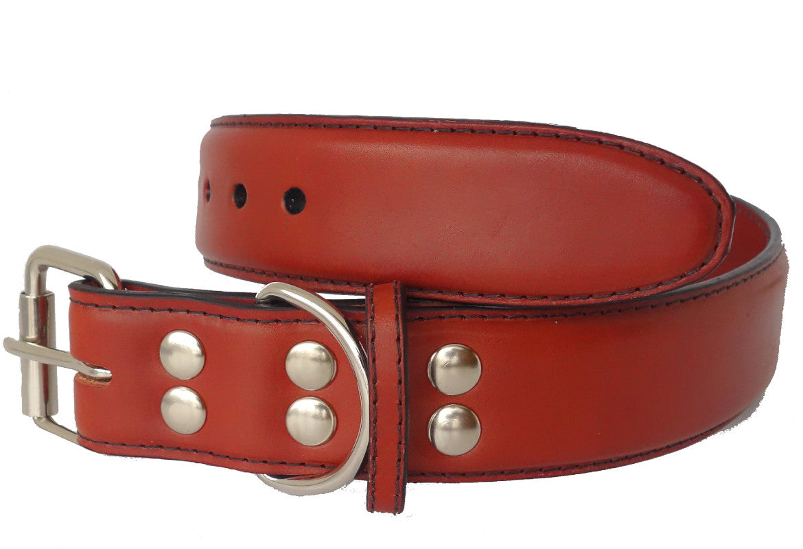 Two Tone leather cat collar