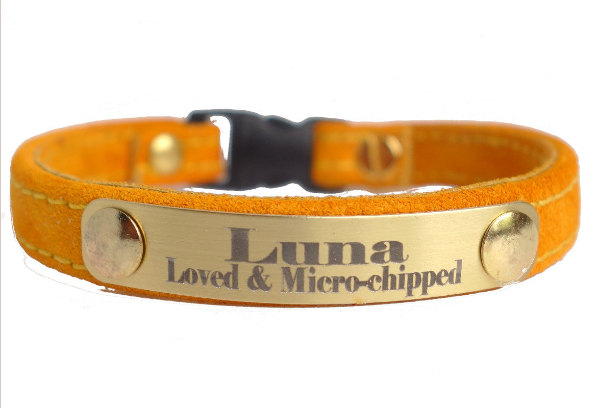 Adjustable leather Dog Collars