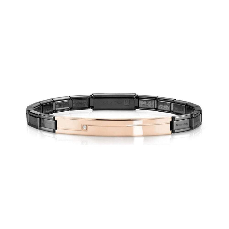 Nomination Italy Stainless Steel Black & Rose Bracelet  - 021117-029