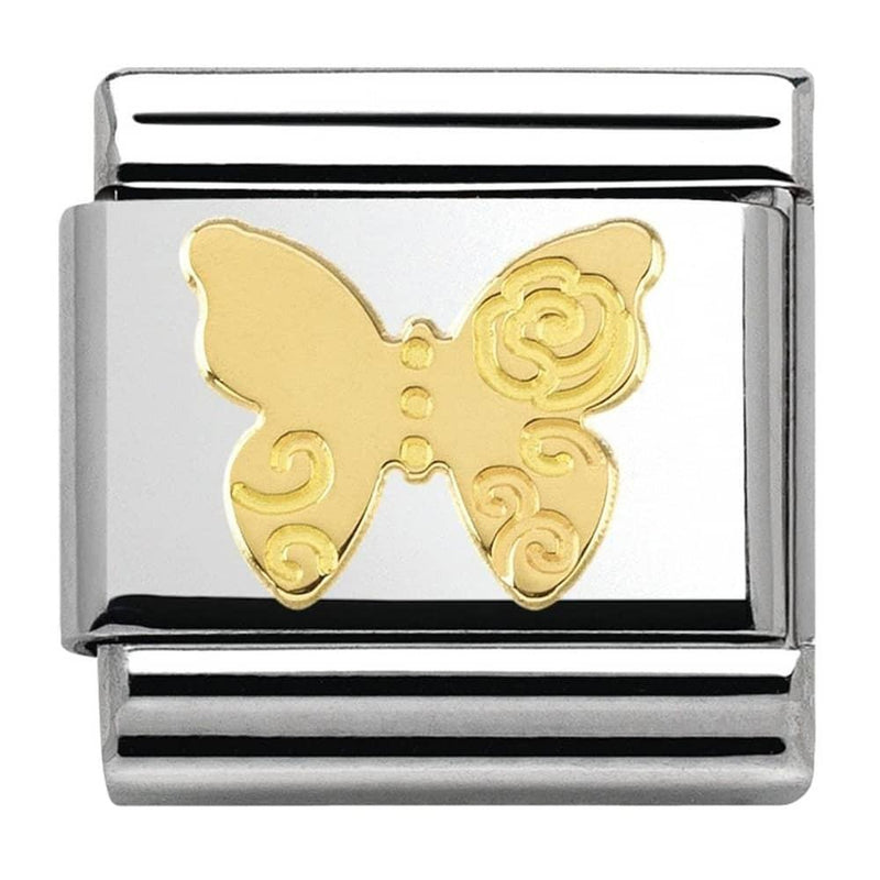 Nomination Italy Composable Gold Butterfly Link - 030162-13