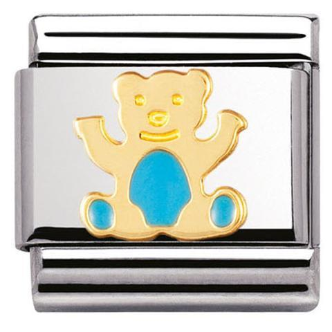 Nomination Italy Composable Light Blue Bear Link  - 030212-33