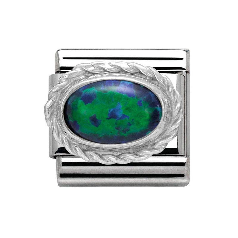 Nomination Italy Composable Green Opal Link  - 030509-26