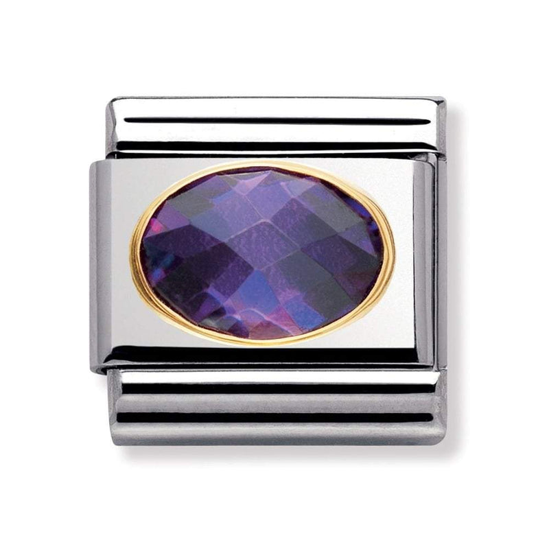 Nomination Italy Composable Purple Stone Link  - 030601-001