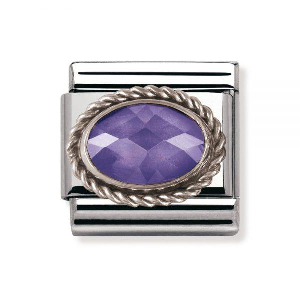 Nomination Italy Composable Violet Cz Link  - 030606-001