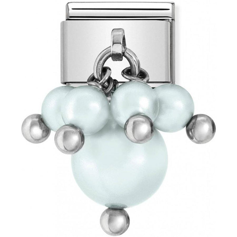 Nomination Italy Composable Baby Blue Swarovski Pearl Link  - 030609-08