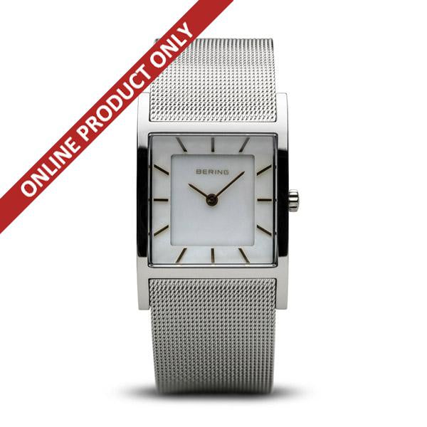 Bering Ladies Square Dial Stainless Steel Watch 104260-10S