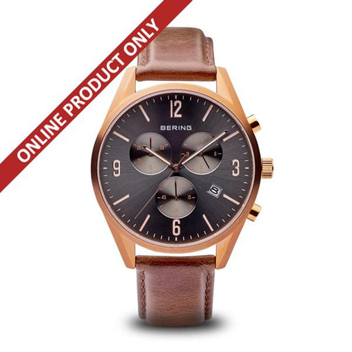 Bering Gents Classic Multidial Rose Gold Watch 10542-562