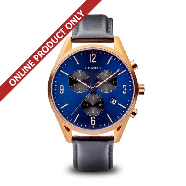 Bering Gents Blue Multi-dial Watch 10542-567