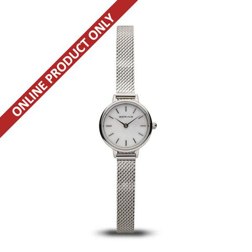 Bering Ladies Classic Quartz Small Stainless Steel Watch 11022-004