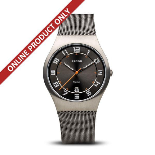 Bering Gents Grey Titaniam Watch 11937-007