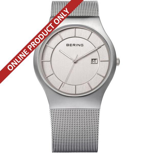 Bering Gents Classic Quartz Stainless Steel watch 11938-000