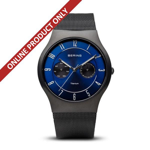 Bering Gents Classic Black Titanium Watch 11939-078