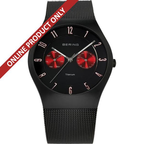 Bering Gents Black Titanium Quartz Watch 11939-229